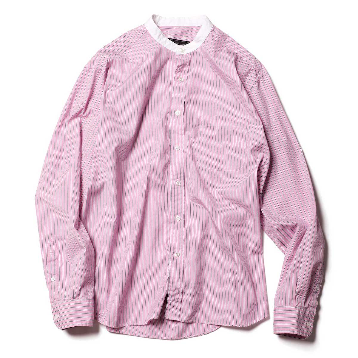 SOPHNET. / STANDARD BIG BAND COLLAR SHIRT (Pink)