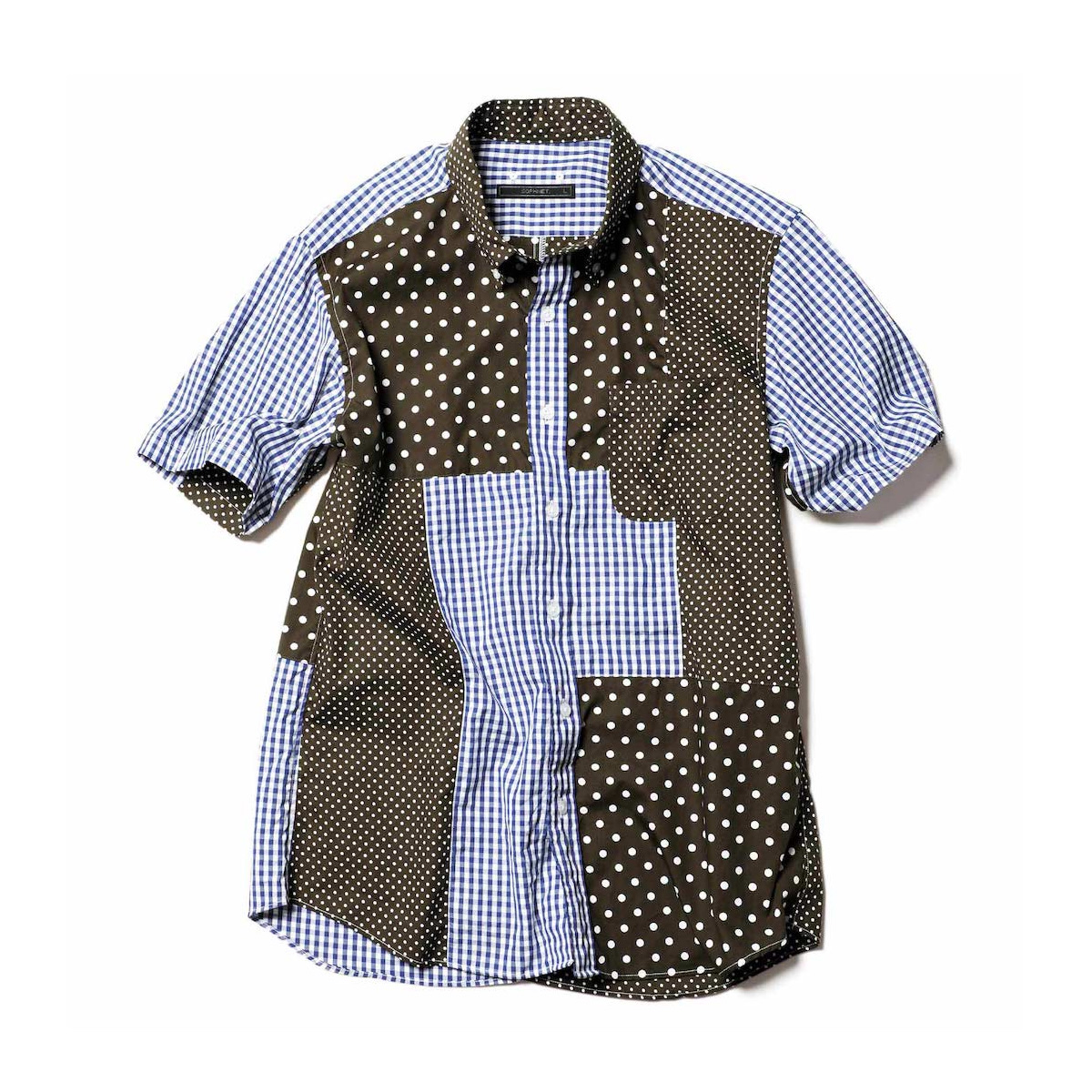 SOPHNET. / S/S PATCH WORK B.D SHIRT (Khaki)