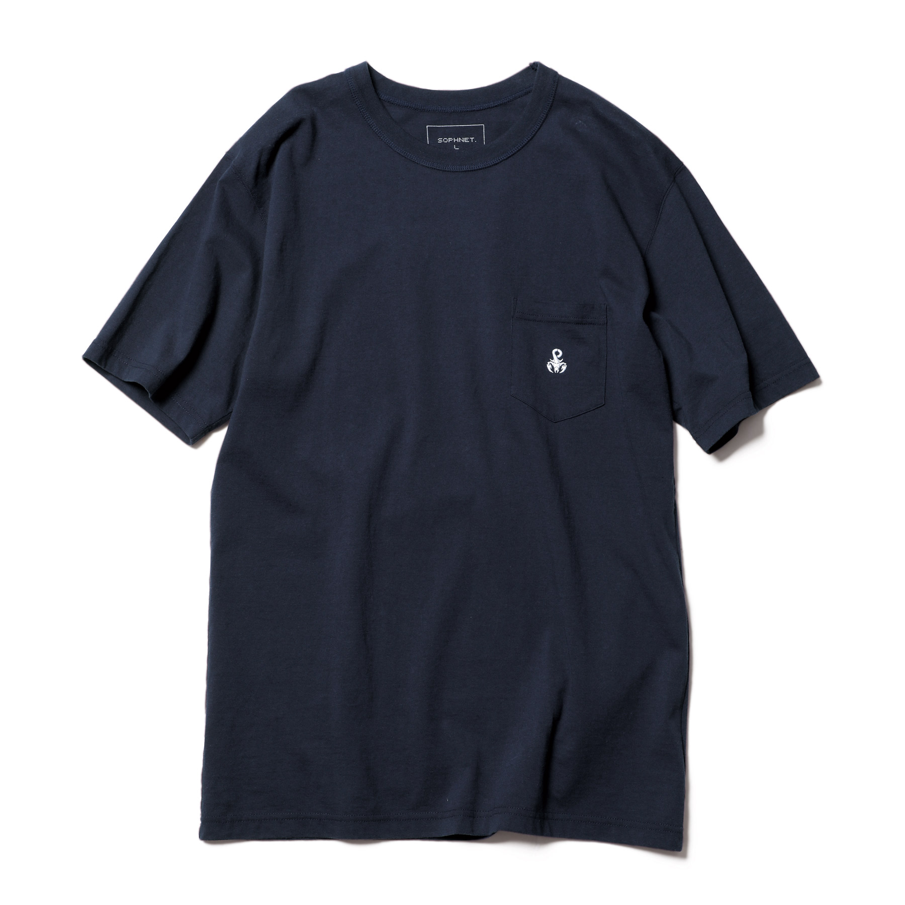 SOPHNET. / BASIC POCKET TEE (Navy)