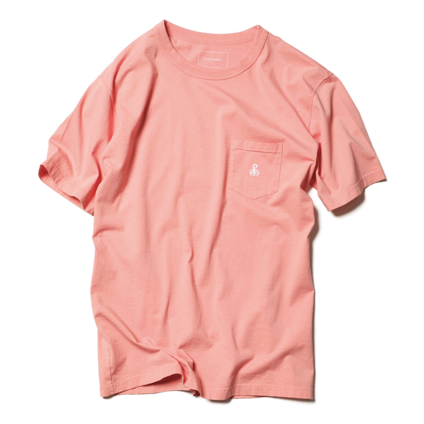 SOPHNET. / BASIC POCKET TEE (Pink)