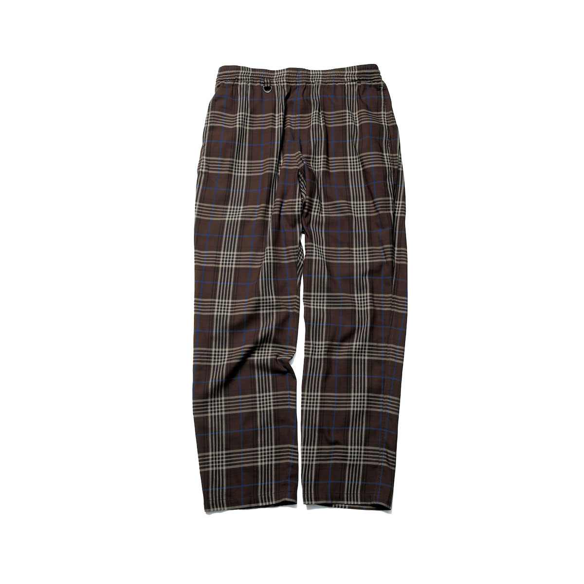 SOPHNET. / SOLOTEX CHECK WIDE TAPERED EASY PANTS (Brown)