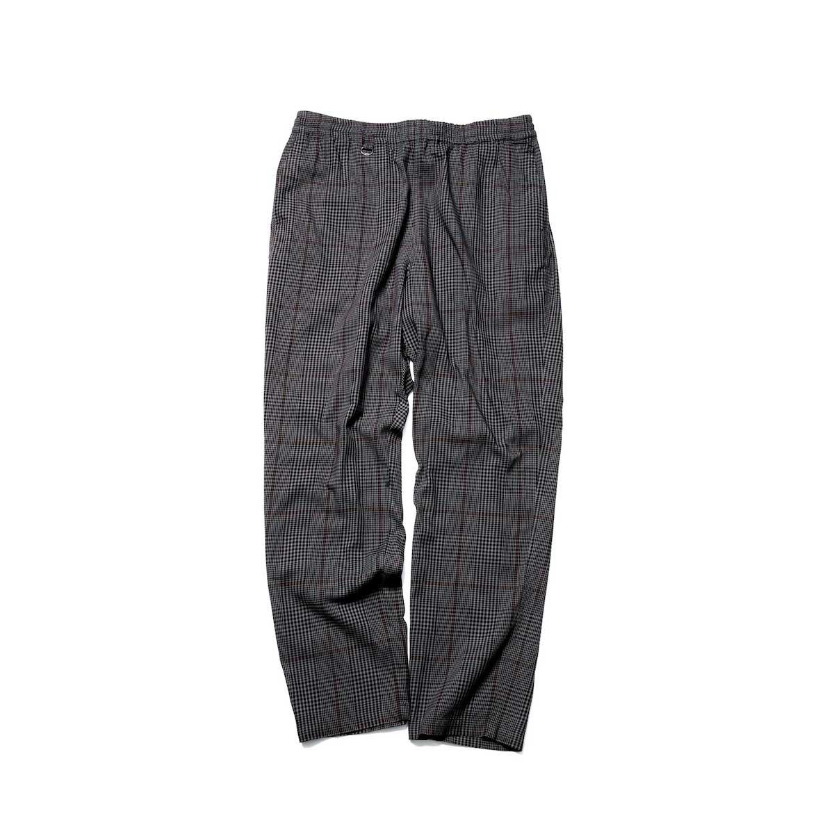 SOPHNET. / SOLOTEX CHECK WIDE TAPERED EASY PANTS (Gray)