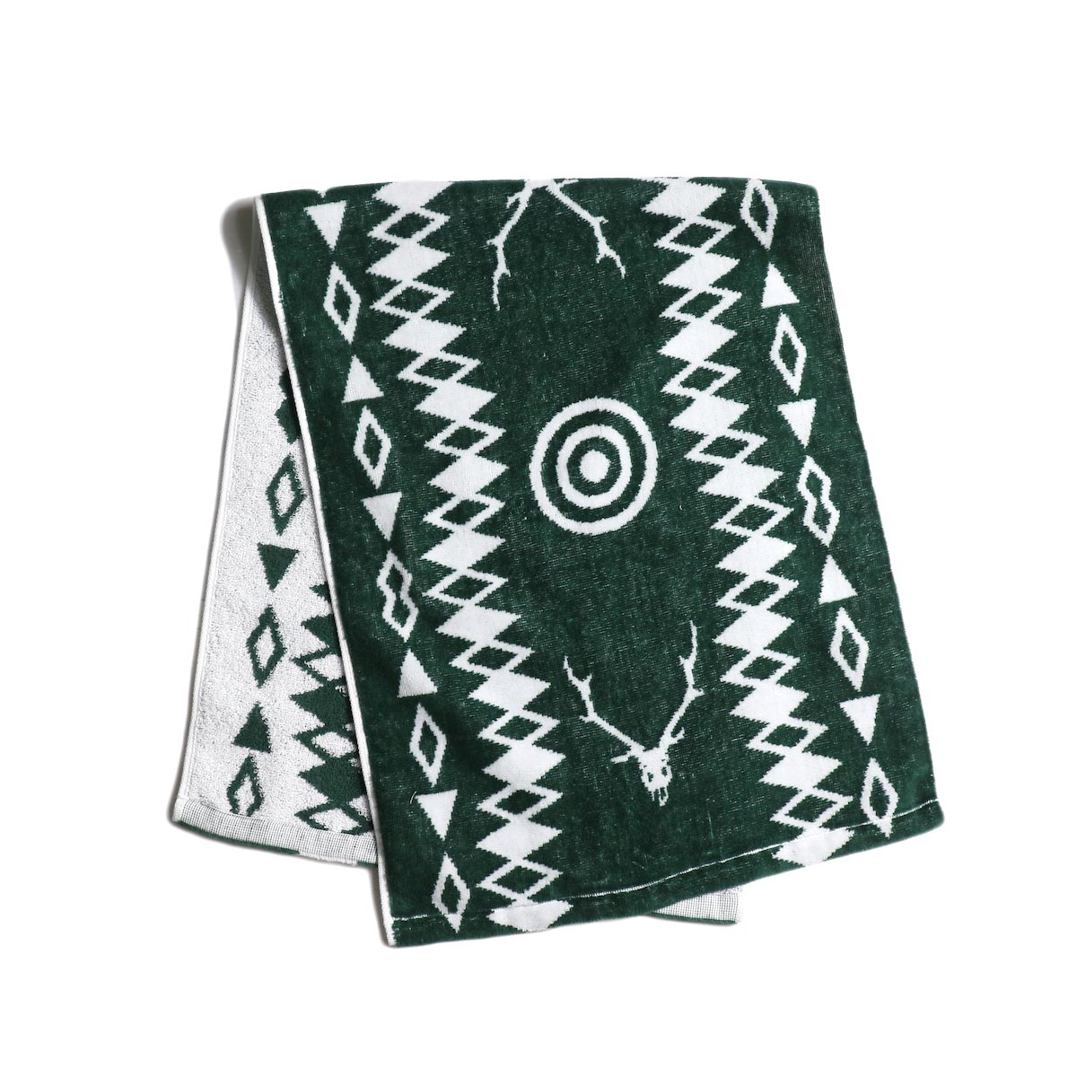 South2 West8 / Face Towel -Cotton Jacquard (Target & Skull) 正面