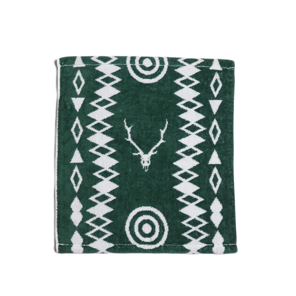 South2 West8 / Wash Towel -Cotton Jacquard (Target & Skull)