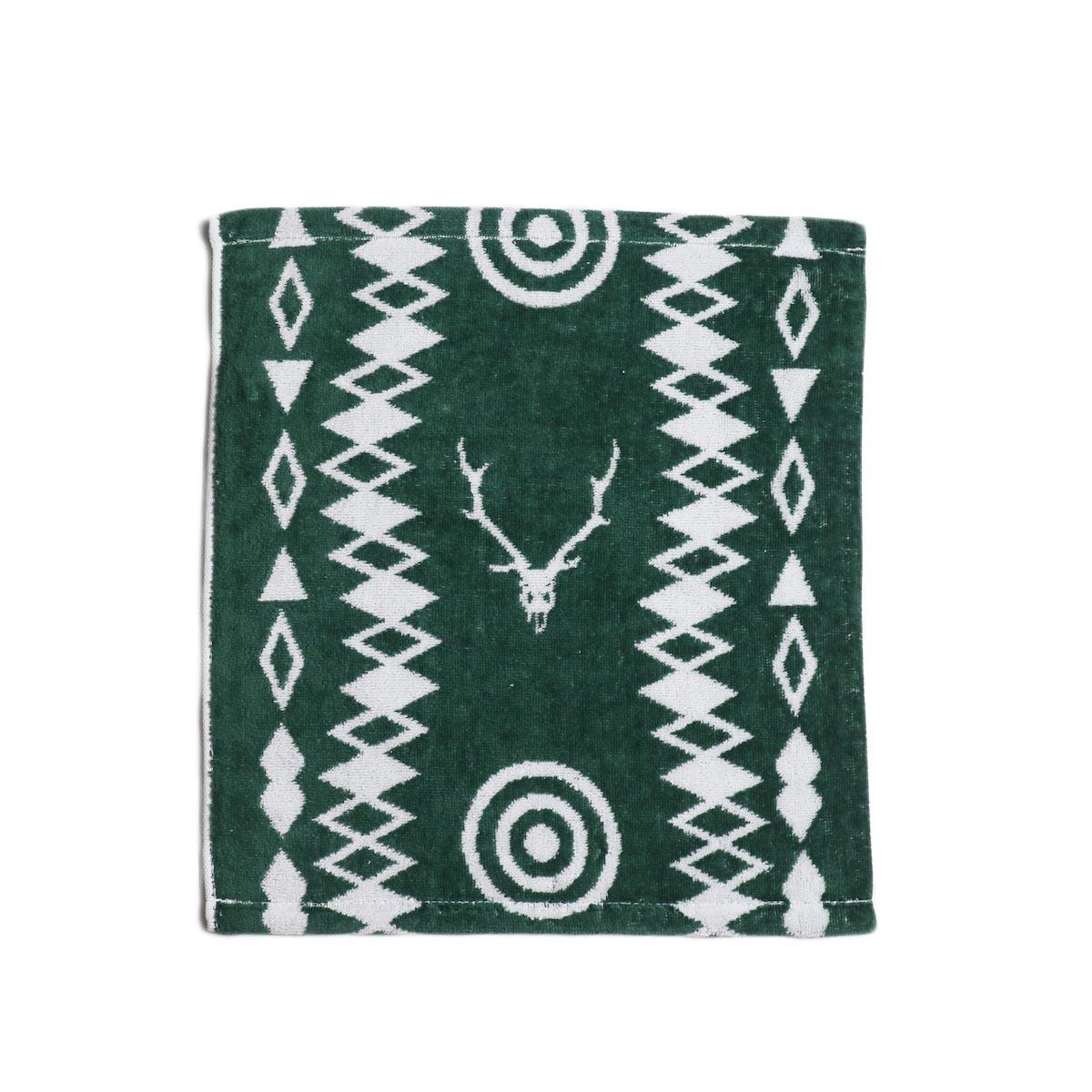 South2 West8 / Wash Towel -Cotton Jacquard (Target & Skull)