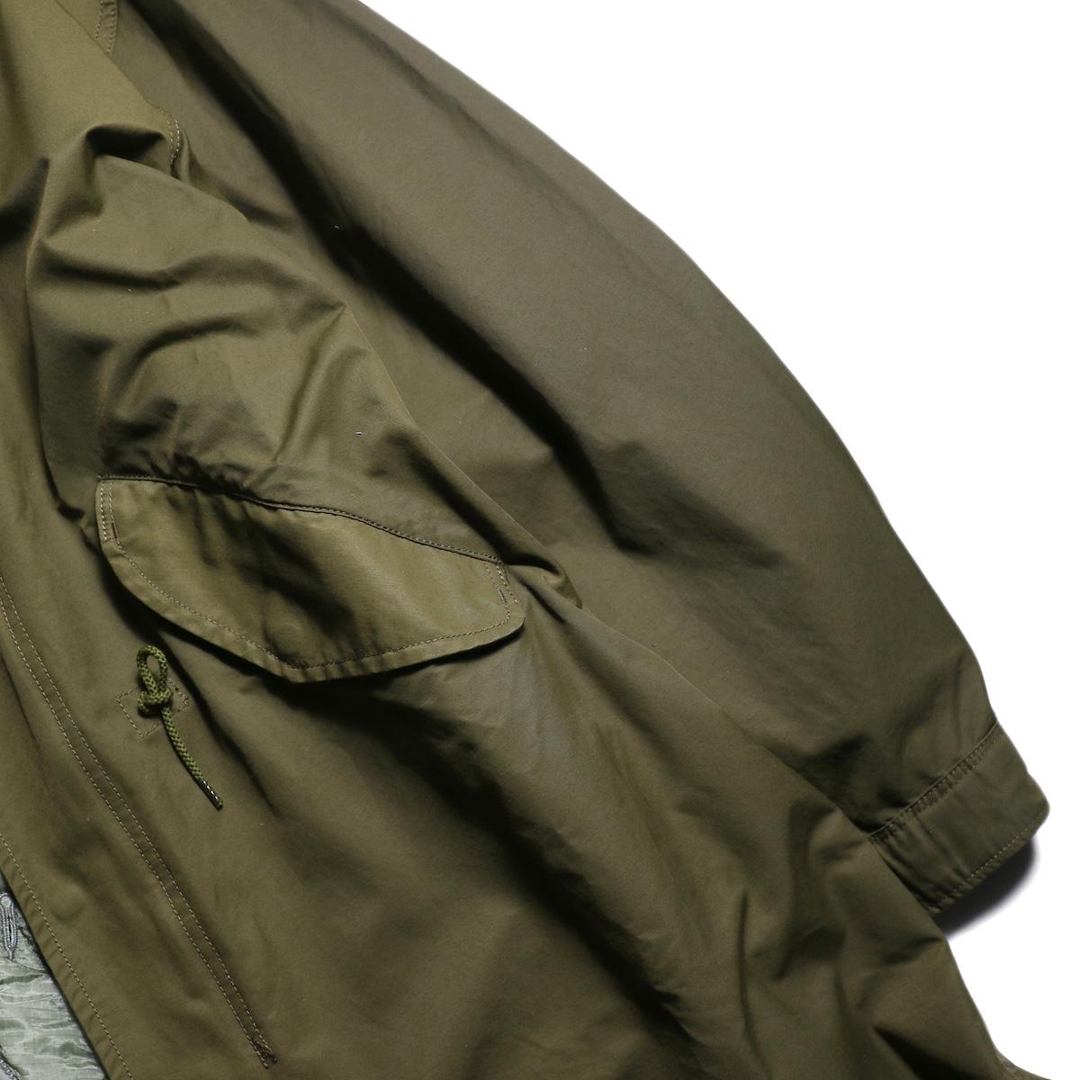 フラップポケット、袖