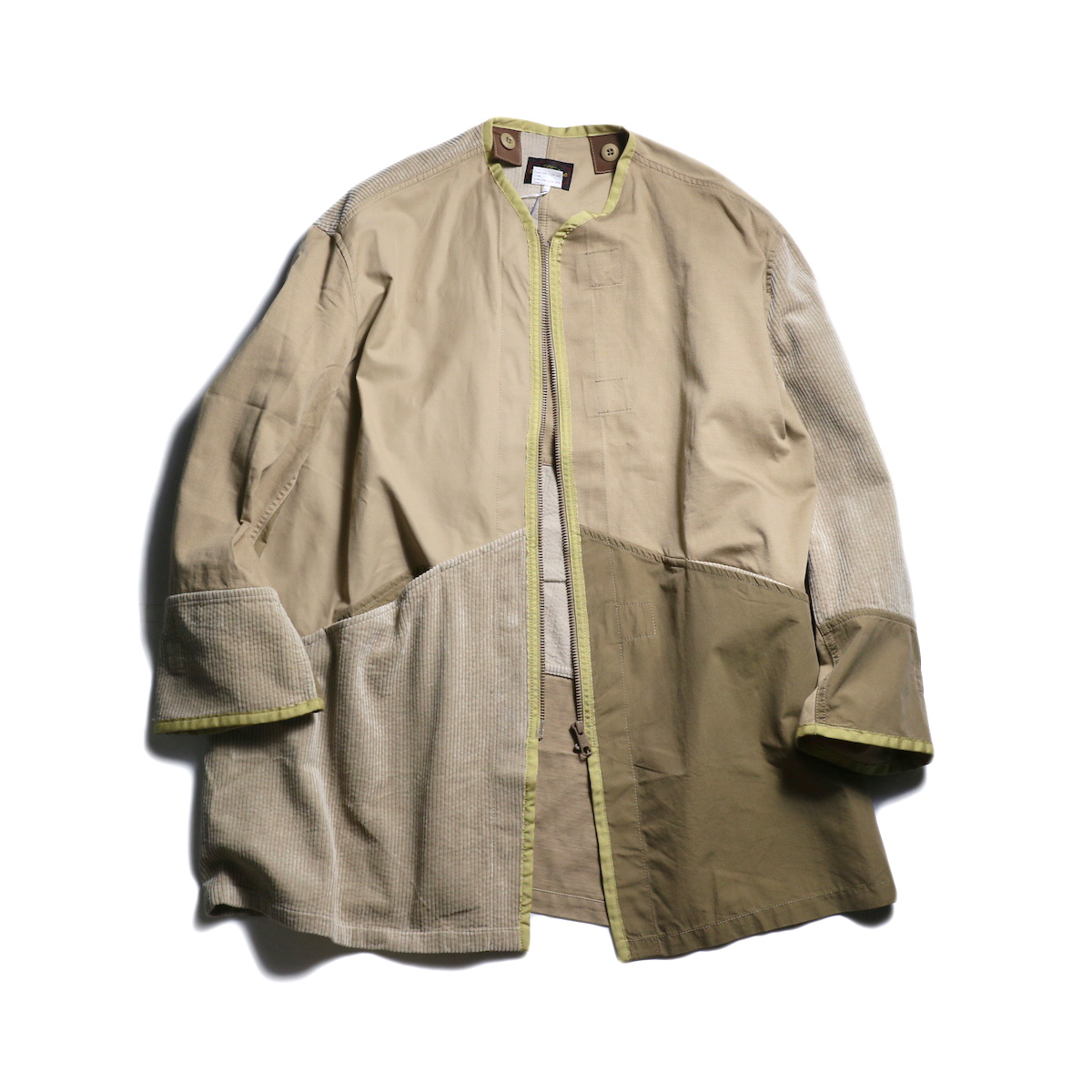 sunny sports / asymmetry coat (Khaki)