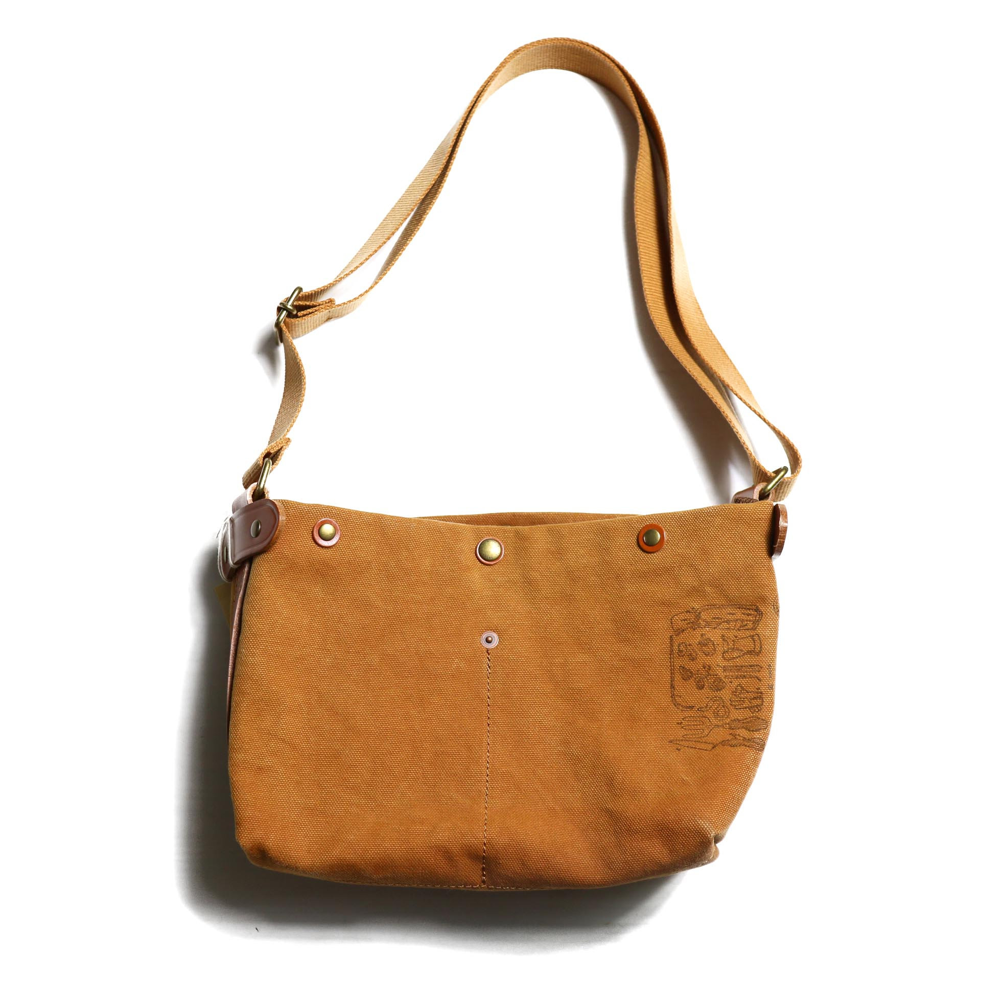 "Suolo / SHOULDER BAG ""KID"" -BROWN"