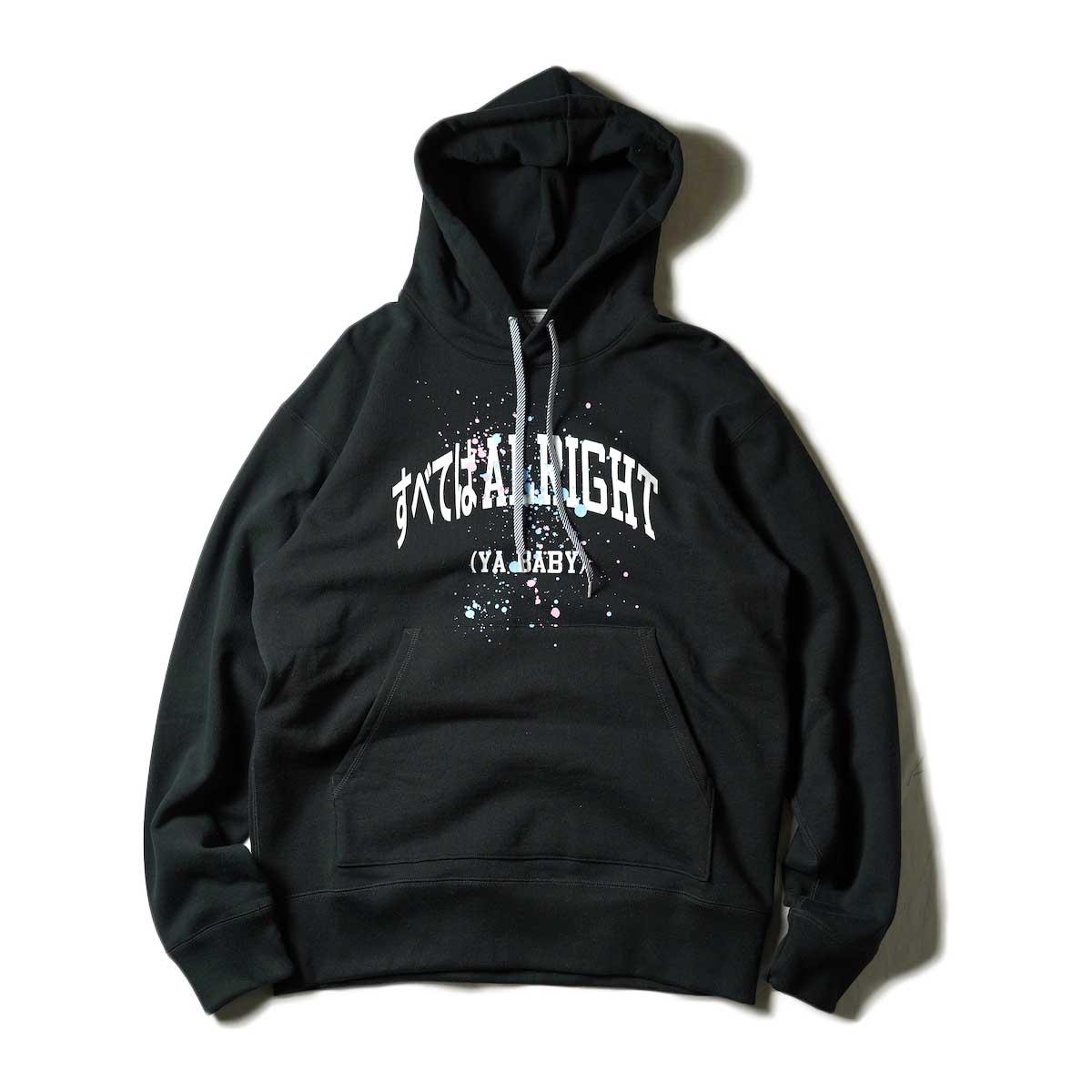 TANGTANG / T-3176 HOODIE - ALRIGHT- (Black)
