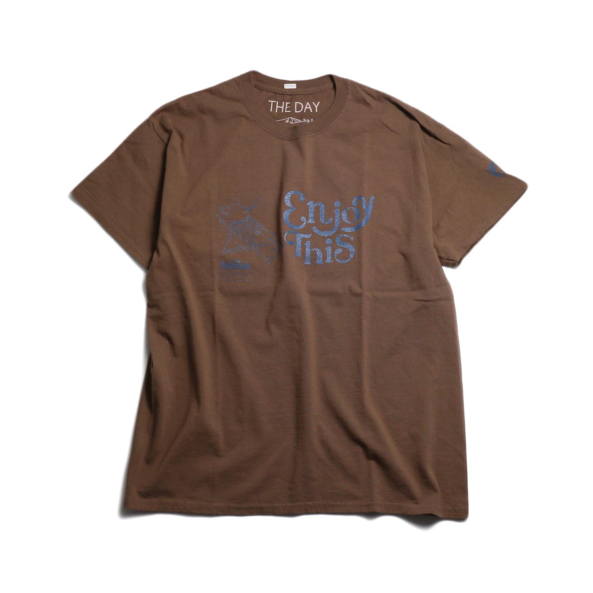 THE DAY ON THE BEACH / Enjoy This Tee -Chestnut