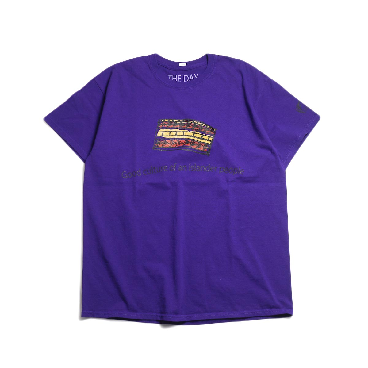 THE DAY ON THE BEACH / Good Culture Tee -Purple