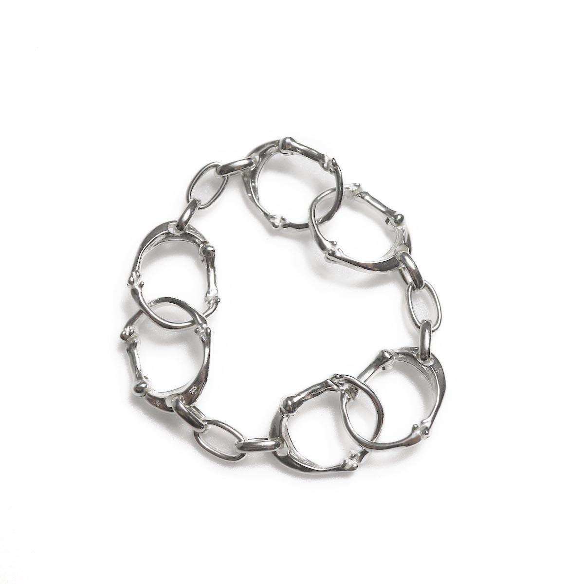 TheSoloist / sa.0054AW18 bone shaped carabiner bracelet.-S-