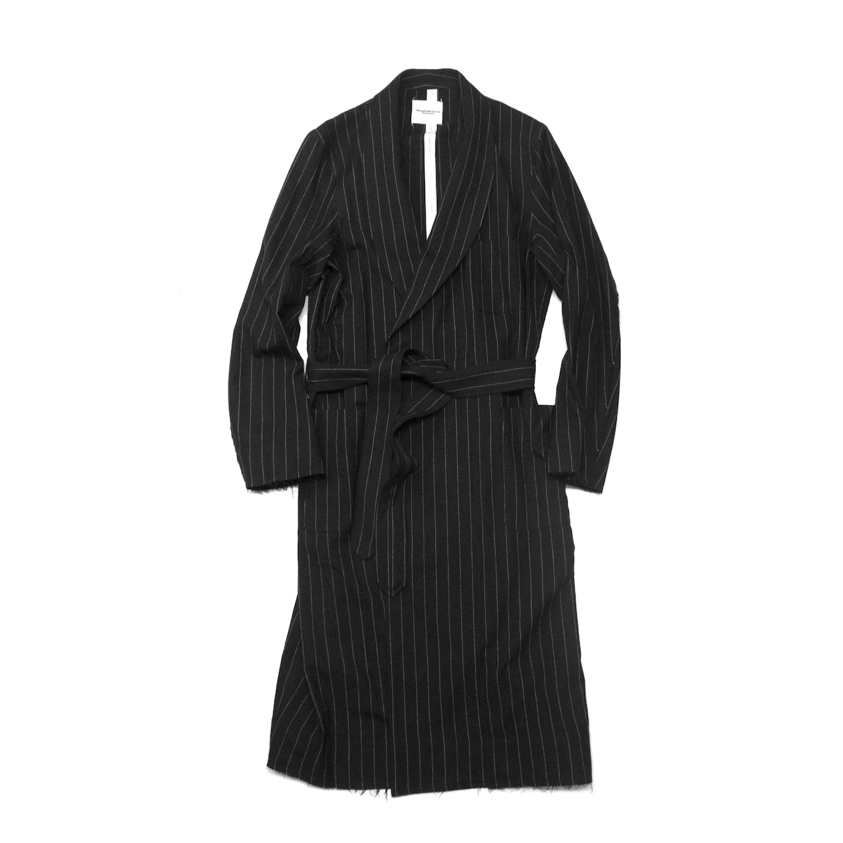 TheSoloist / swj.0018bAW18 robe pajama shirt. (black.×white.)