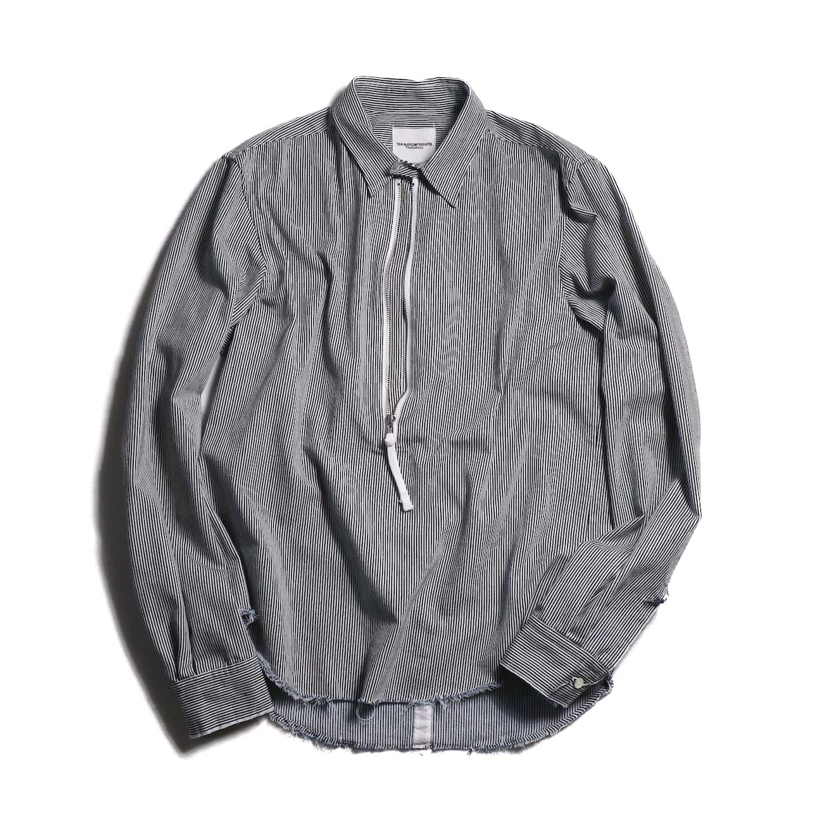 TheSoloist / sws.0012AW18 half zip shirt. (hickory)