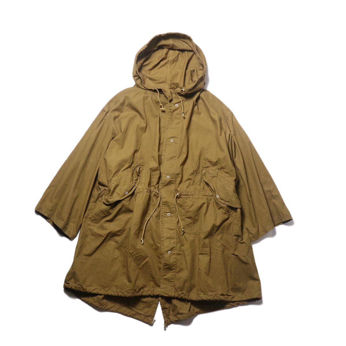 THRIFTY LOOK / UPCYCLE COTTON SNOW PARK (khaki) 正面