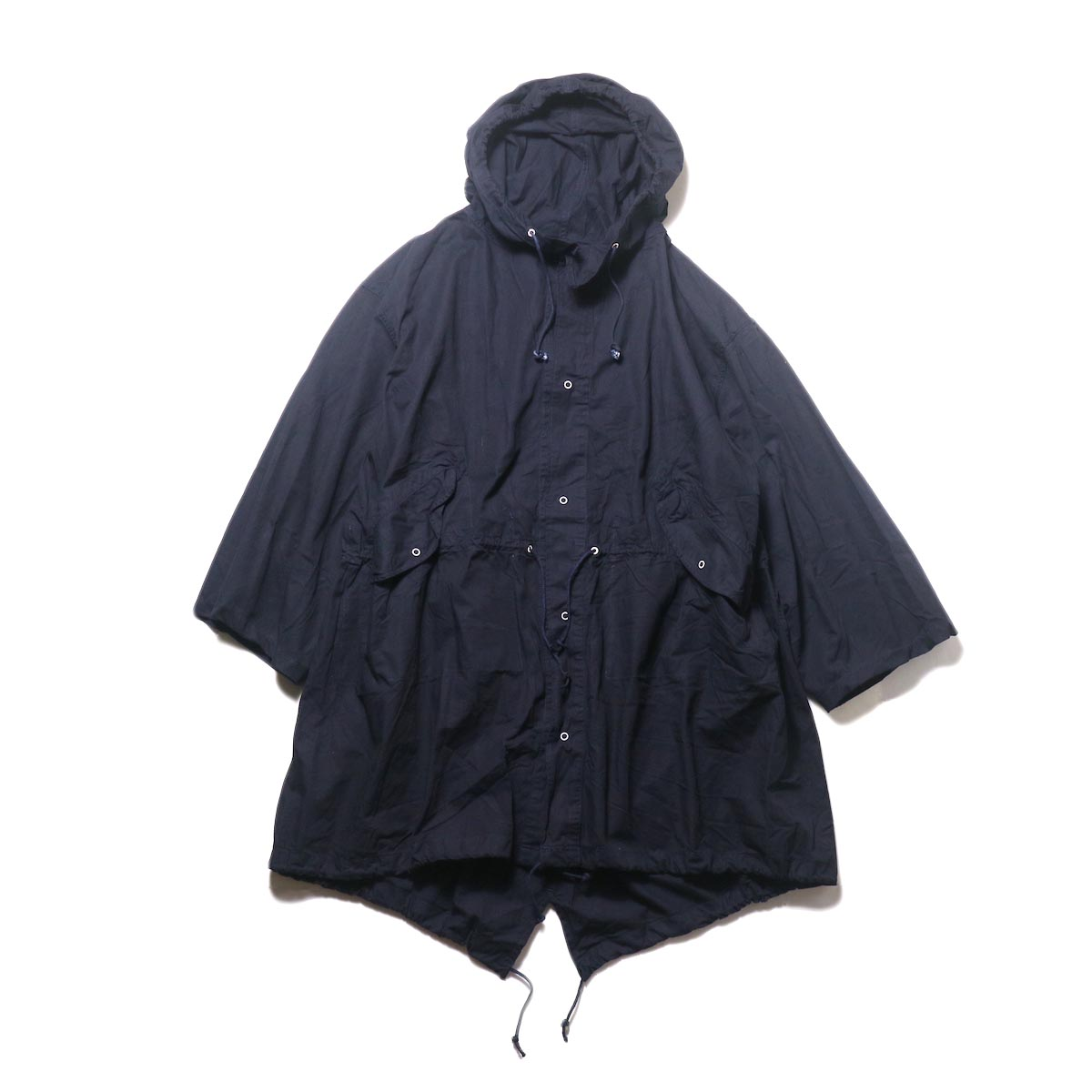 THRIFTY LOOK / UPCYCLE COTTON SNOW PARK (navy) 正面