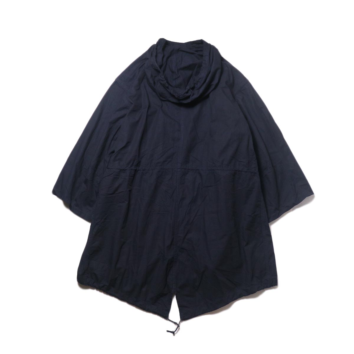THRIFTY LOOK / UPCYCLE COTTON SNOW PARK (navy) 背面