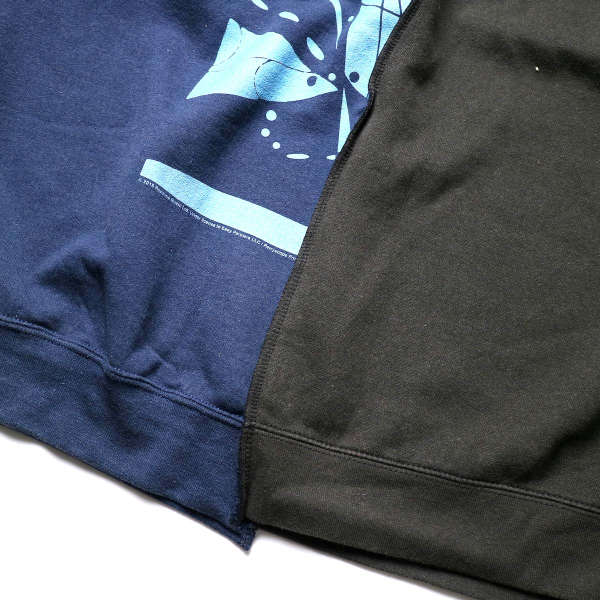 THRIFTY LOOK / Twins Crew Sweat (Black-A)裾