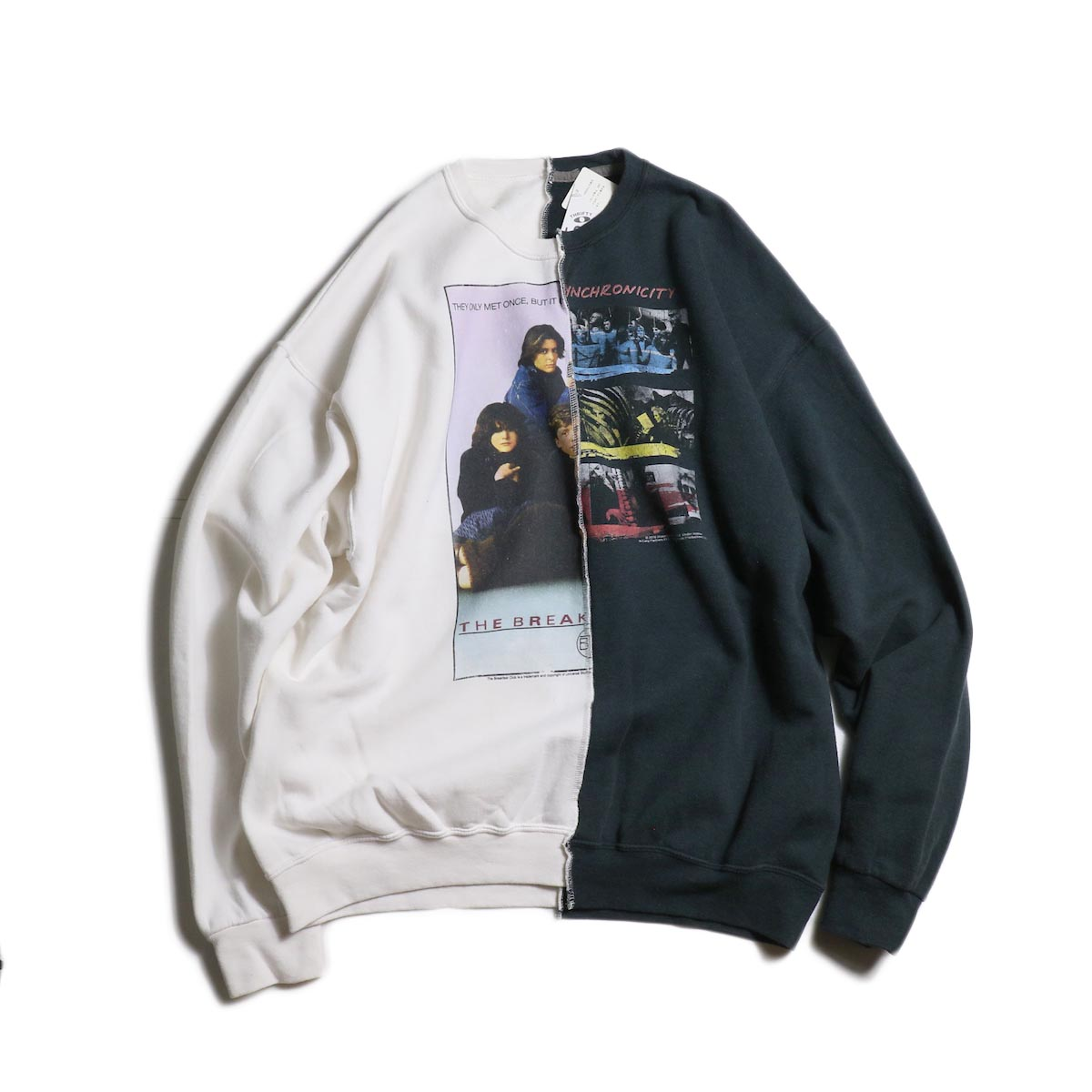 THRIFTY LOOK / Twins Crew Sweat (F) THE BREAKFAST CLUB × THE POLICE正面