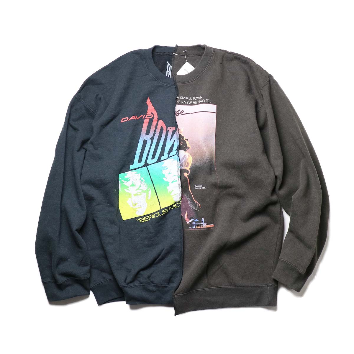 THRIFTY LOOK / Twins Crew Sweat (Black-F)正面