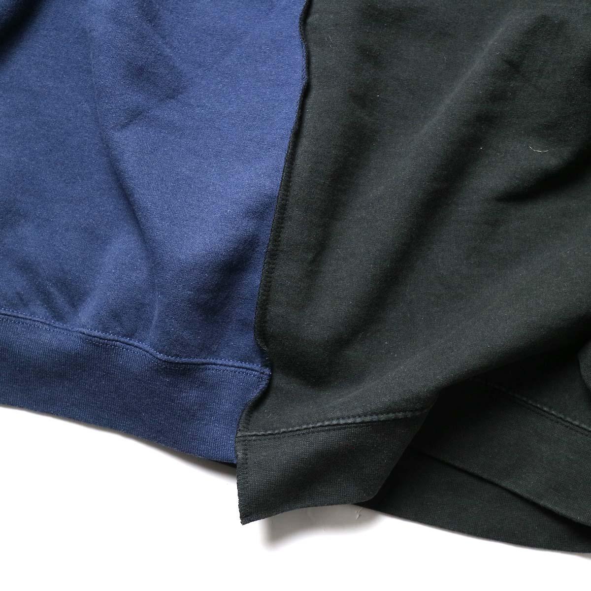 THRIFTY LOOK / Twins Crew Sweat (Black-H)裾