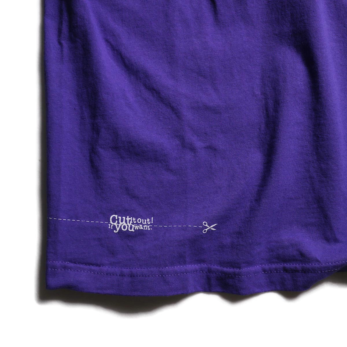 TODAY edition / RUNNING SS TEE -Purple 裾プリント