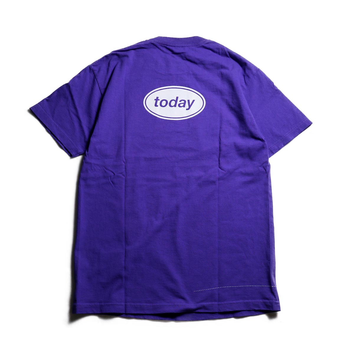 TODAY edition / RUNNING SS TEE -Purple 背面