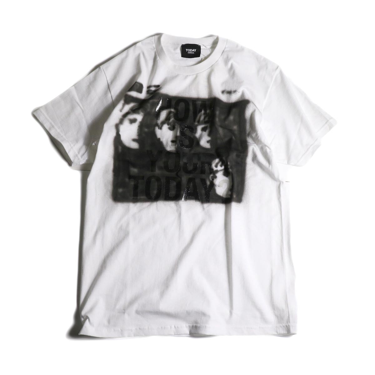 """TODAY edition / """"Hello Goodbye"""" SS TEE (White)"""