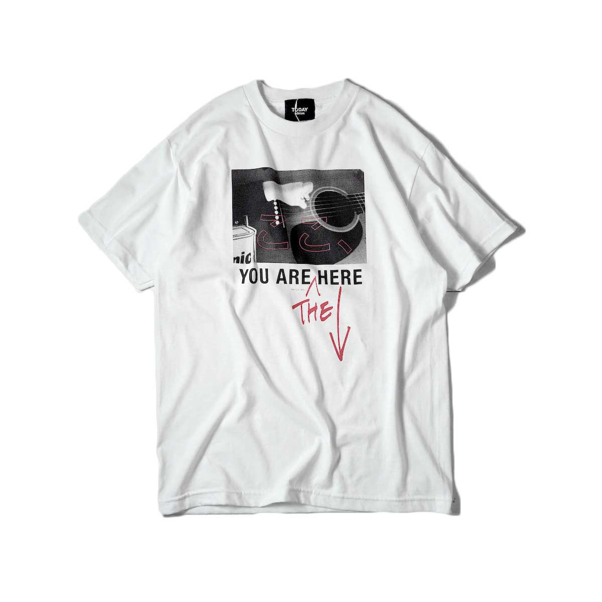 TODAY edition / ここ、Guitar SS Tee (White)