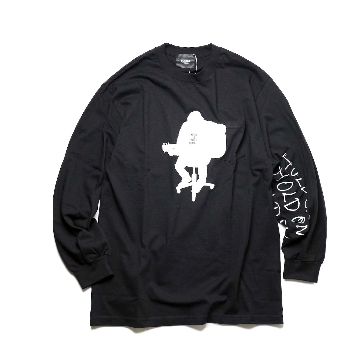 "TODAY edition / ""acoustics"" LS Tee (Black)"