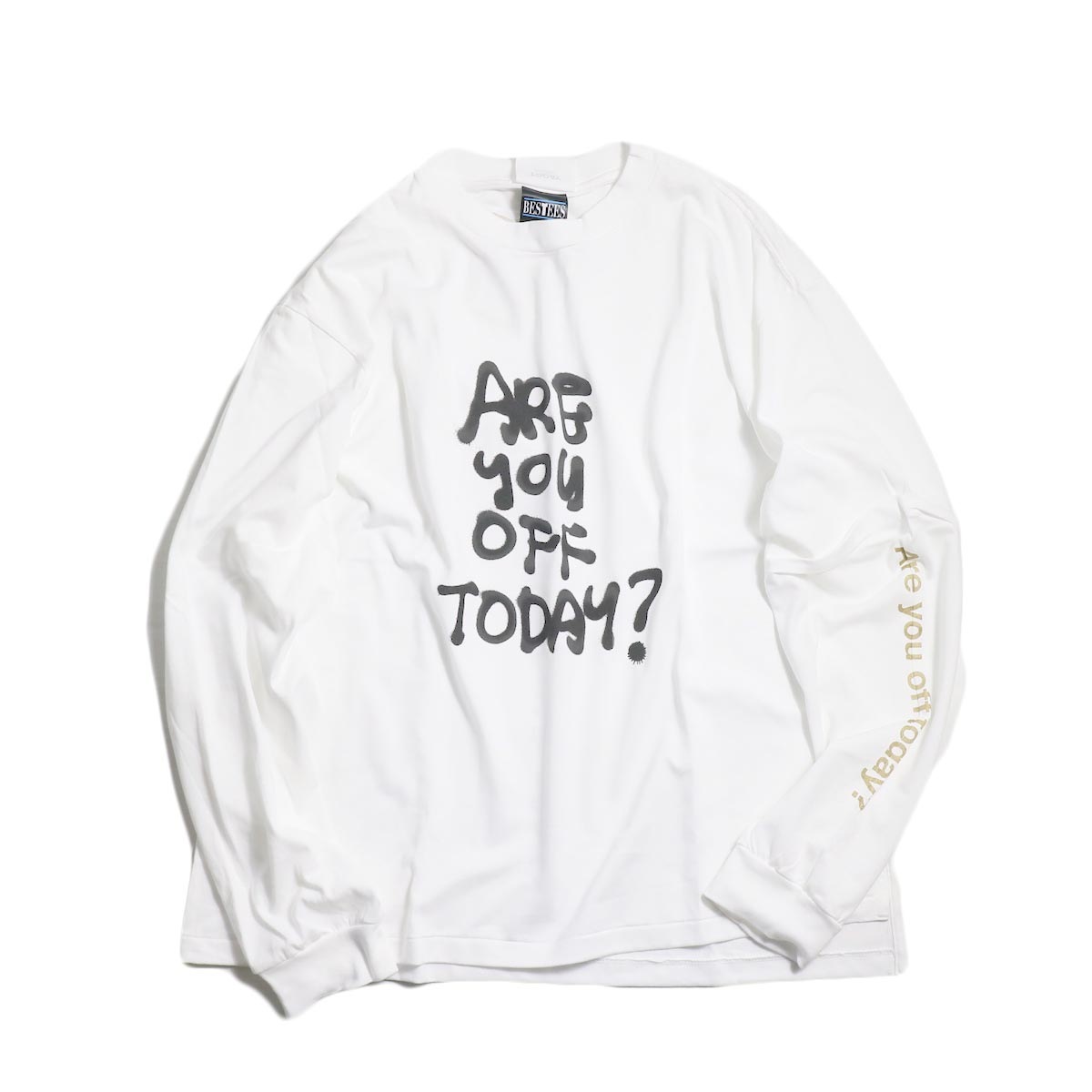 TODAY edition / ARE YOU OFF TODAY? tee -White