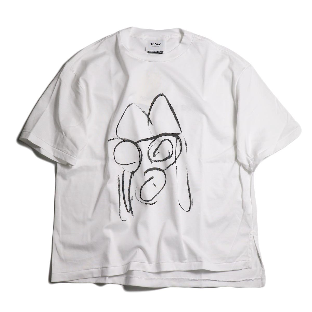 TODAY edition / drawing tee #1 -White