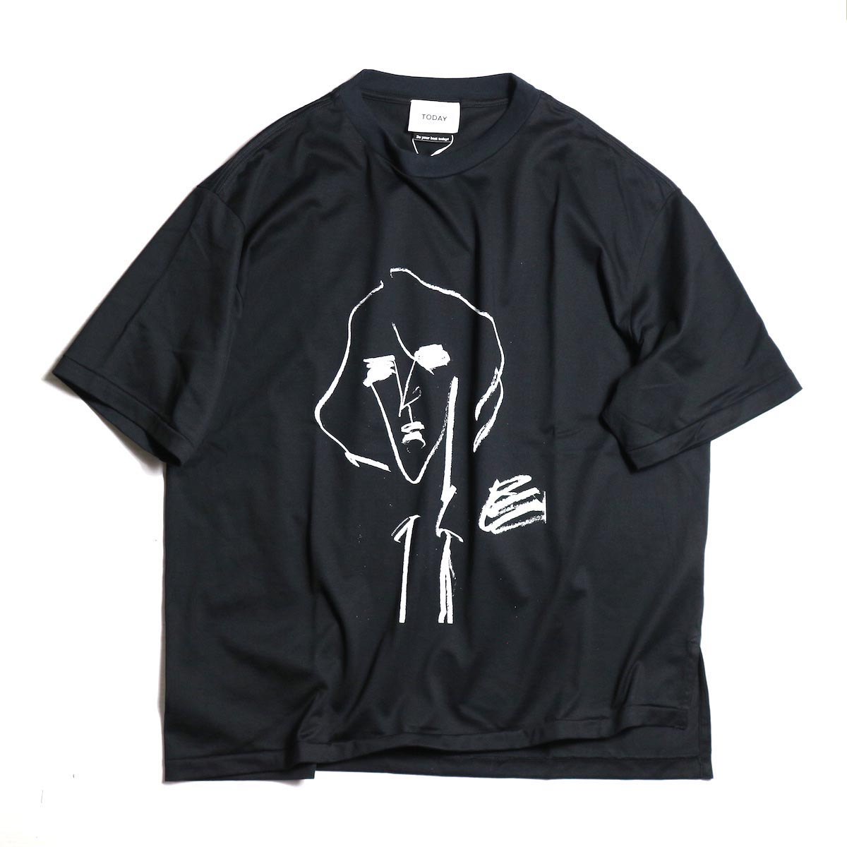 TODAY edition / drawing tee #3 -Black