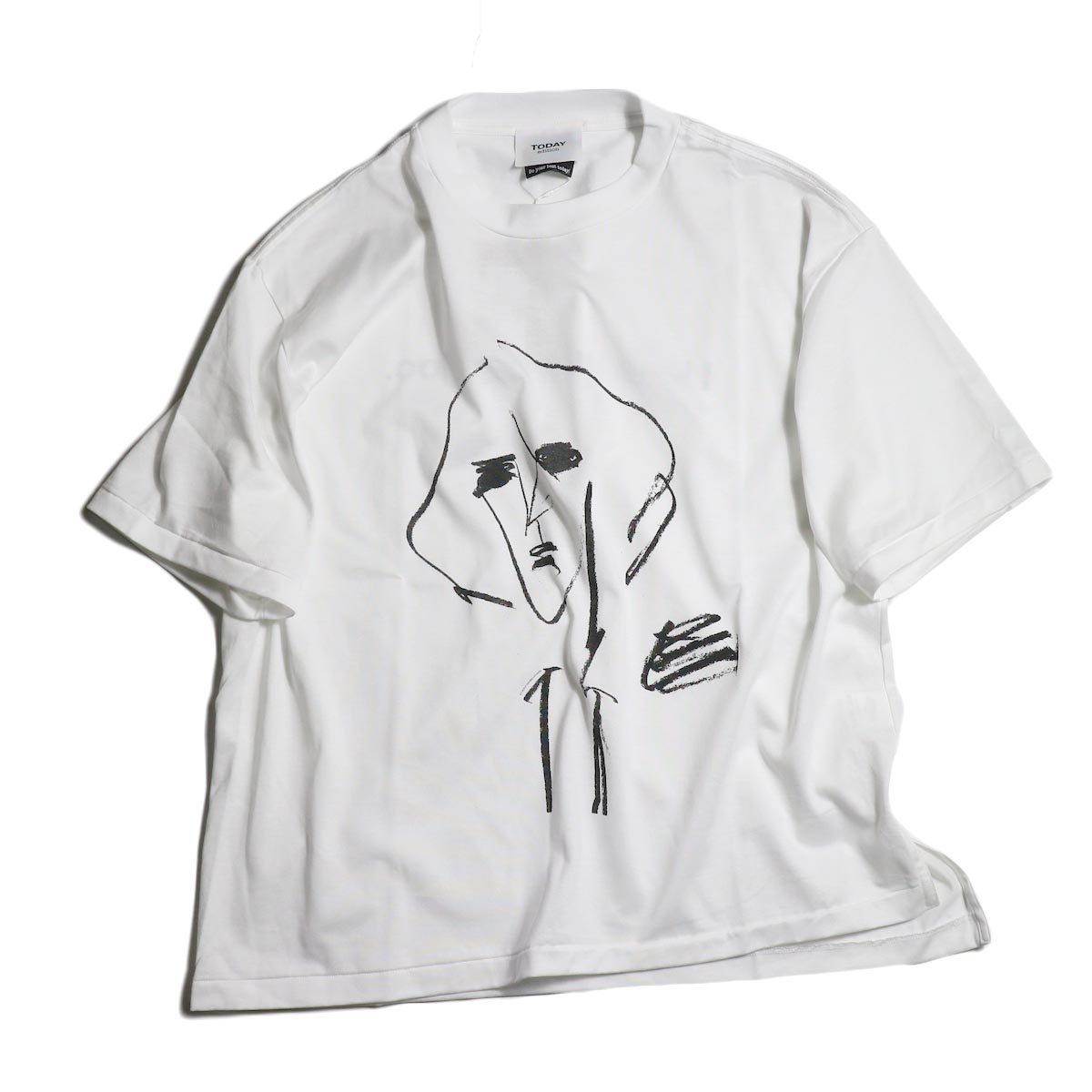TODAY edition / drawing tee #3 -White