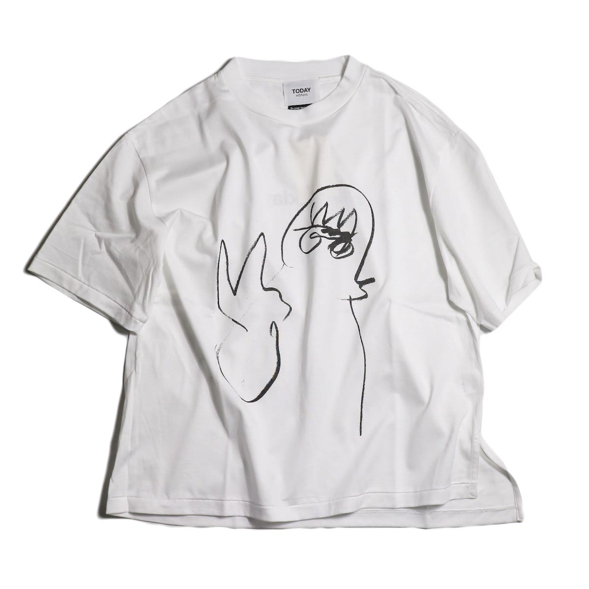 TODAY edition / drawing tee #4 -White