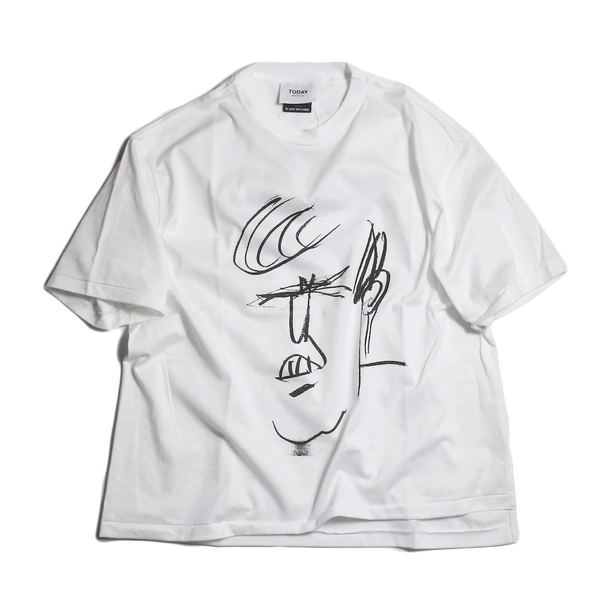 TODAY edition / drawing tee #5 -White