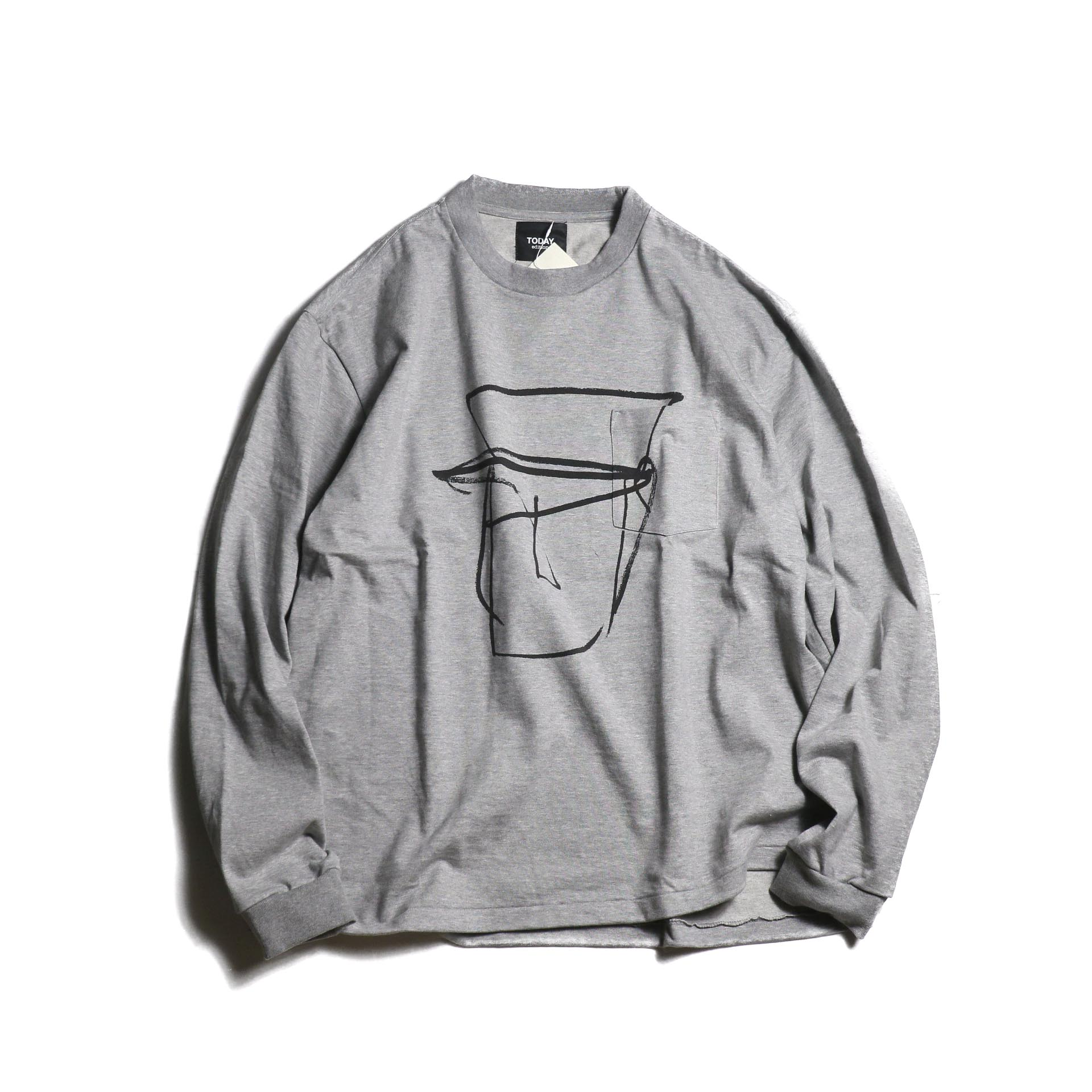 TODAY edition / Drawing Tee #1 (Gray)