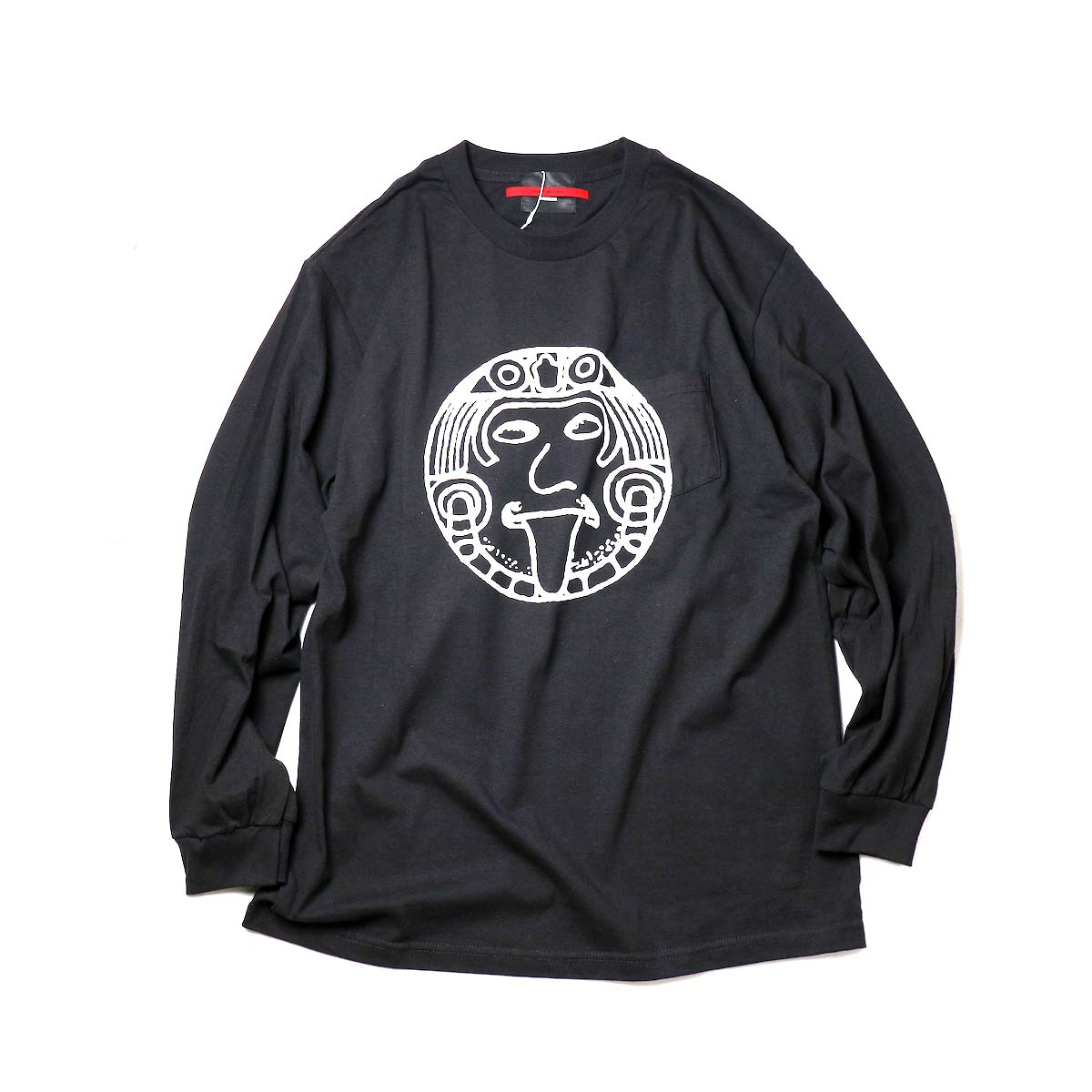 "TODAY edition / ""FLUX AZTEC"" LS Tee (Black)正面"