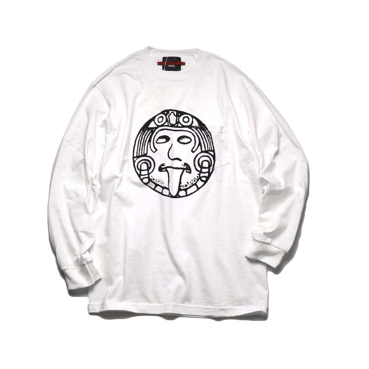 """TODAY edition / """"FLUX AZTEC"""" LS Tee (White)"""