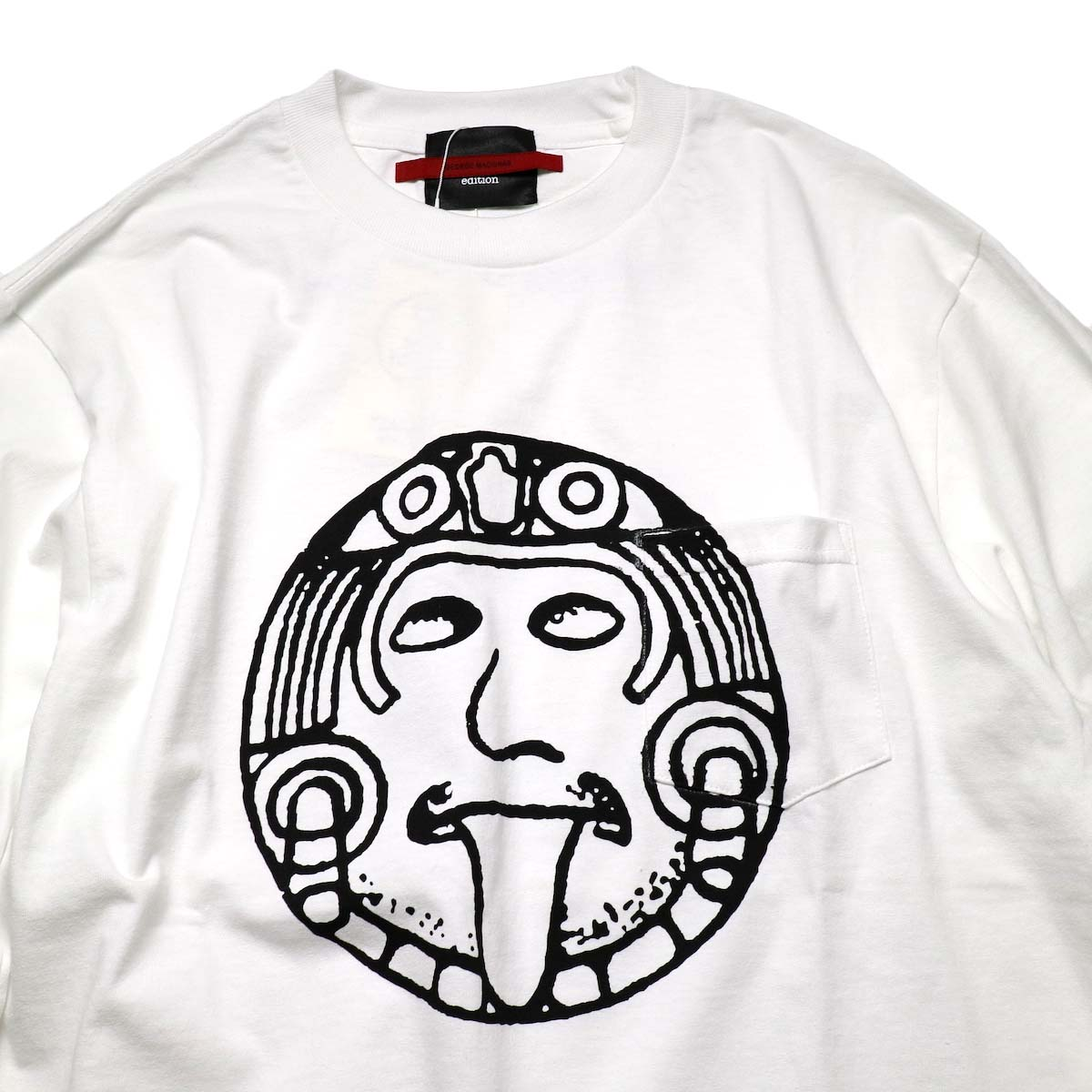 "TODAY edition / ""FLUX AZTEC"" LS Tee (White)正面"