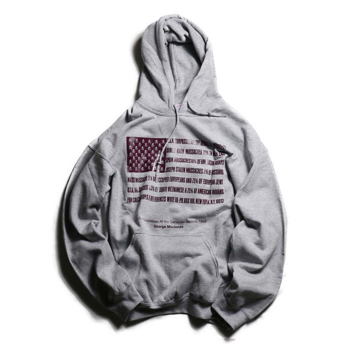 TODAY edition / Flags Pull Over Parka -A/HEATHER