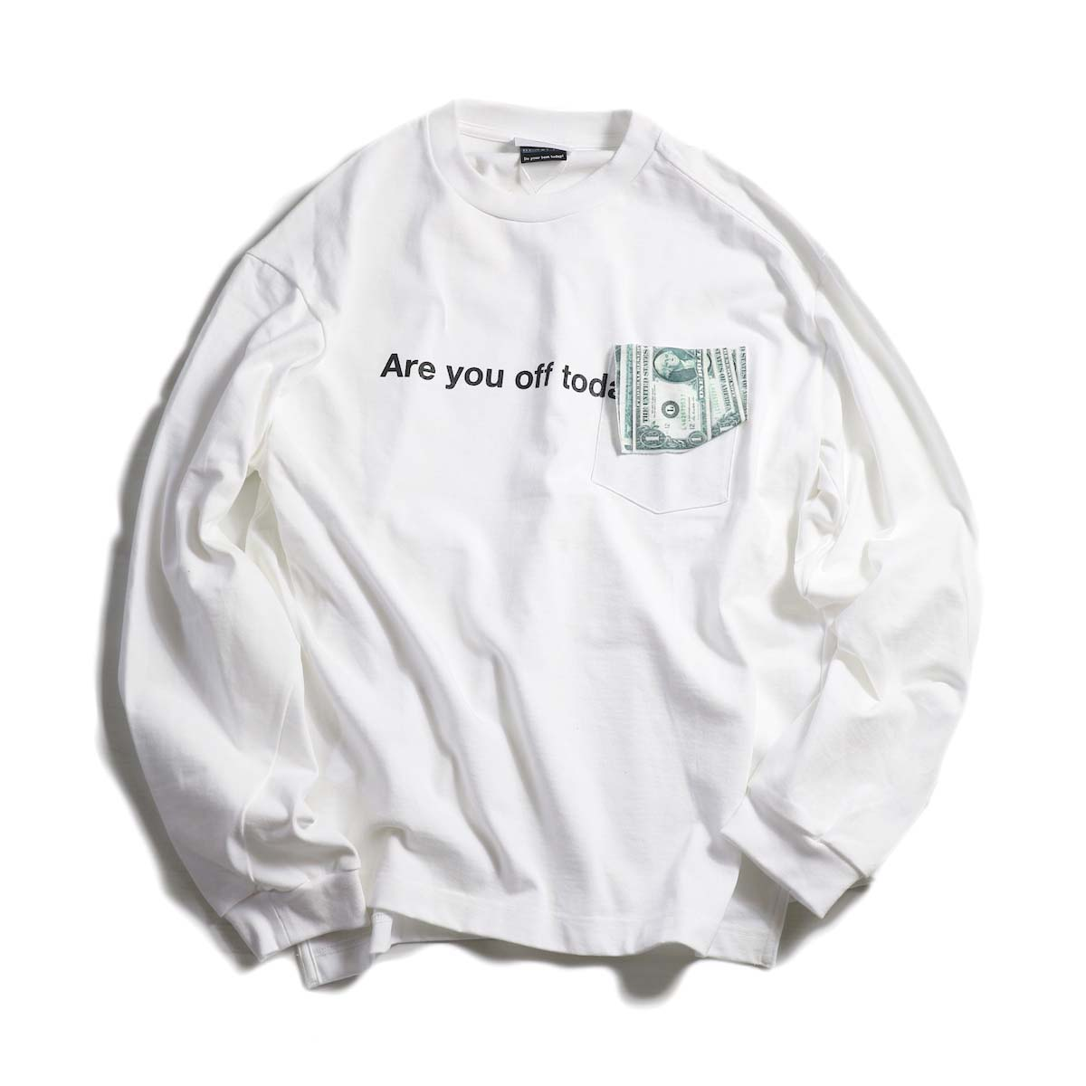 TODAY edition / ARE YOU OFF TODAY? $Pocket tee -White