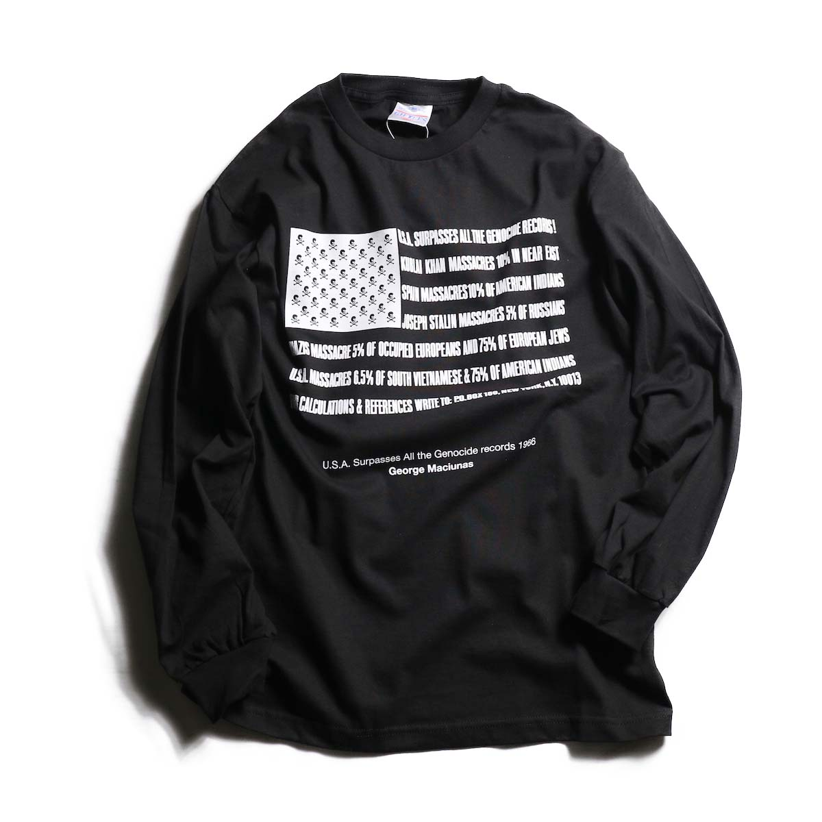 TODAY edition / Flags LS tee -BLACK