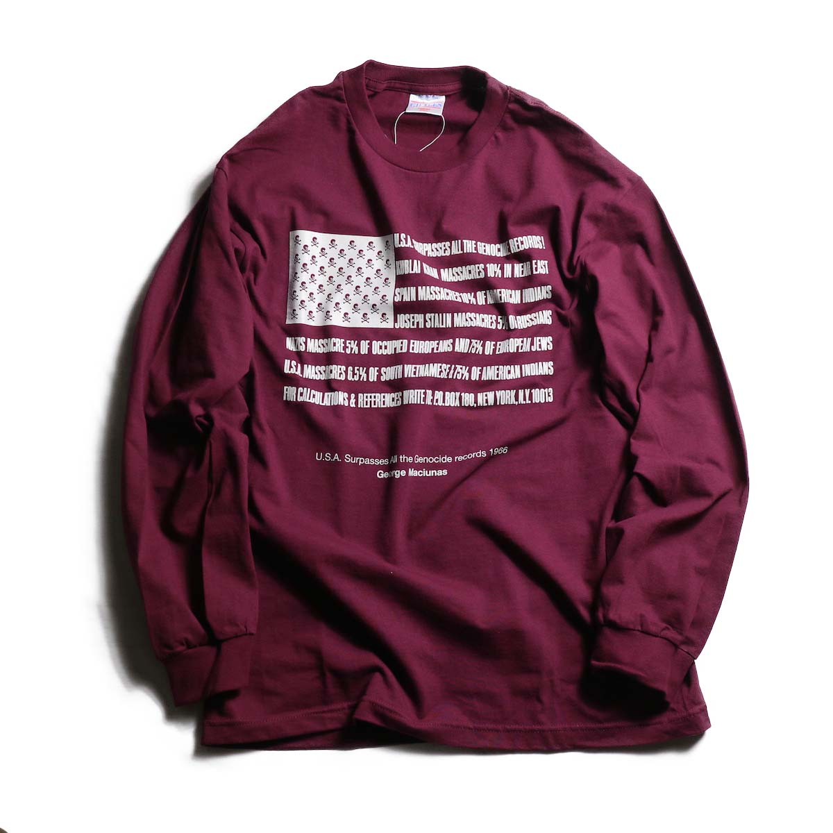 TODAY edition / Flags LS tee -BUR