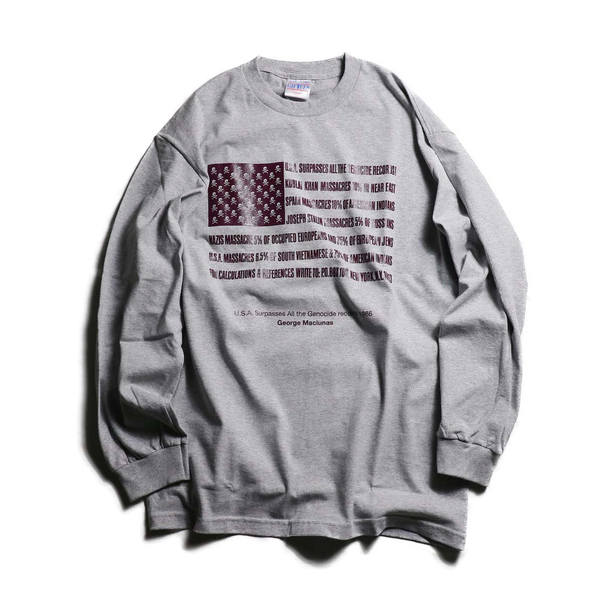 TODAY edition / Flags LS tee -HEATHER