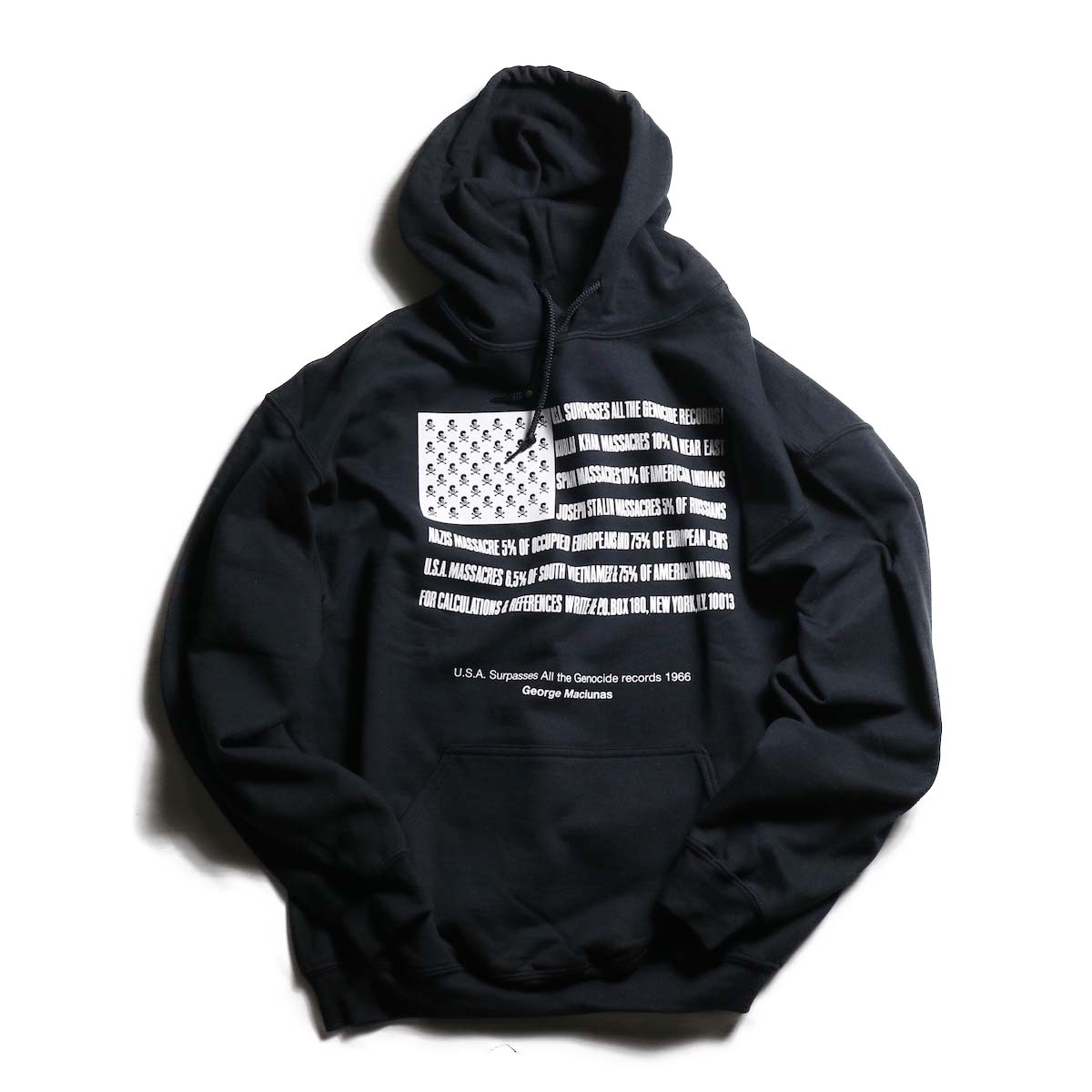 TODAY edition / Flags Pull Over Parka -BLACK