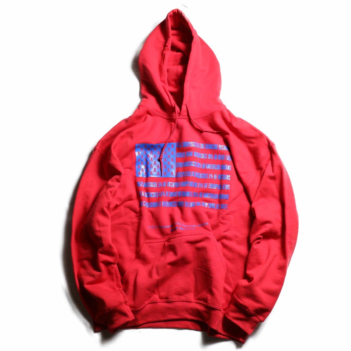TODAY edition / Flags Pull Over Parka -RED