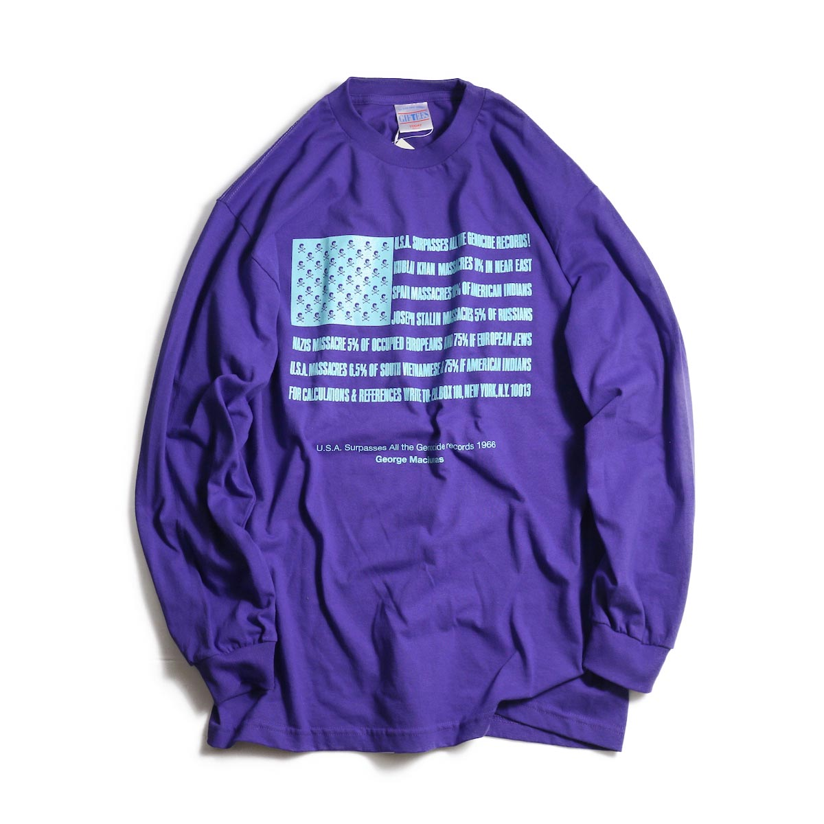 TODAY edition / Flags LS tee -Purple