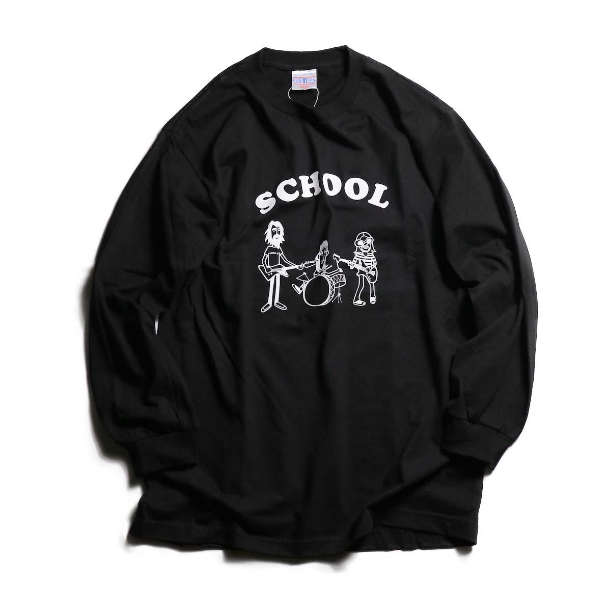 TODAY edition / School LS tee -BLACK