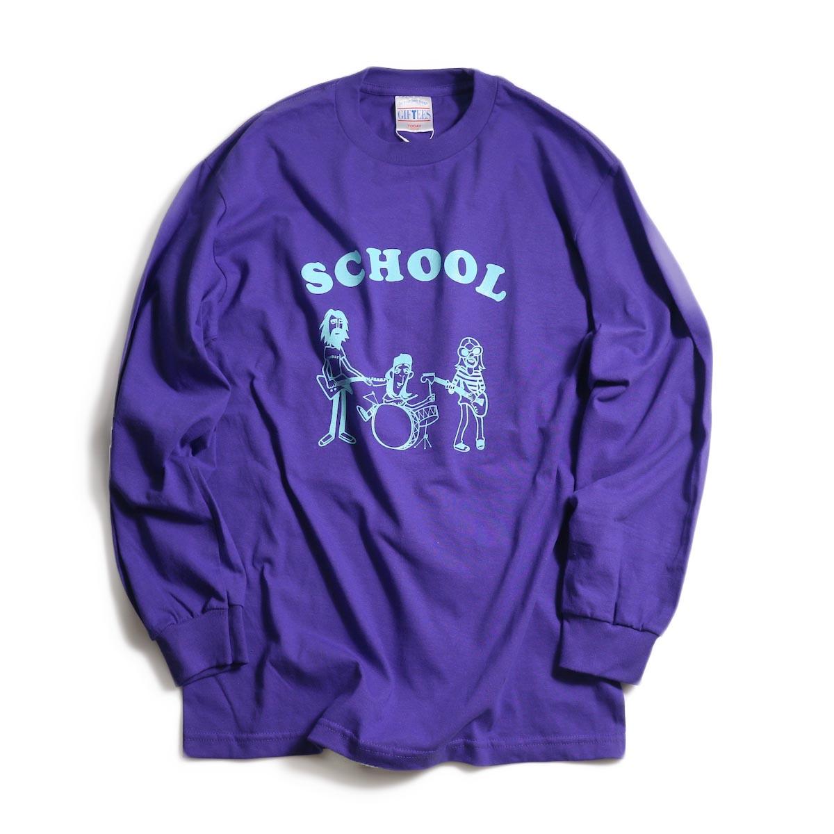 TODAY edition / School LS tee -Purple